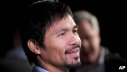 FILE - Manny Pacquiao