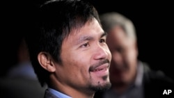 Nike, Inc. memutuskan kontrak dengan petinju Filipina, Manny Pacquiao setelah komentarnya yang anti-gay (foto: dok).