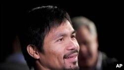 Petinju Manny Pacquiao justru semakin kencang menyatakan sikapnya yang menentang pernikahan sesama jenis, meski harus kehilangan kontrak dari perusahaan olahraga Nike (foto: dok).
