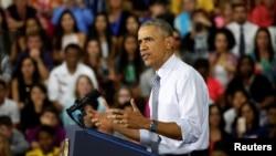 Predsednik Barak Obama govori u Elkhartu u Indijani