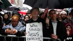 Nyu-Yorkda Amerika müsəlmanları Konqres dinləməsinə etiraz etdi