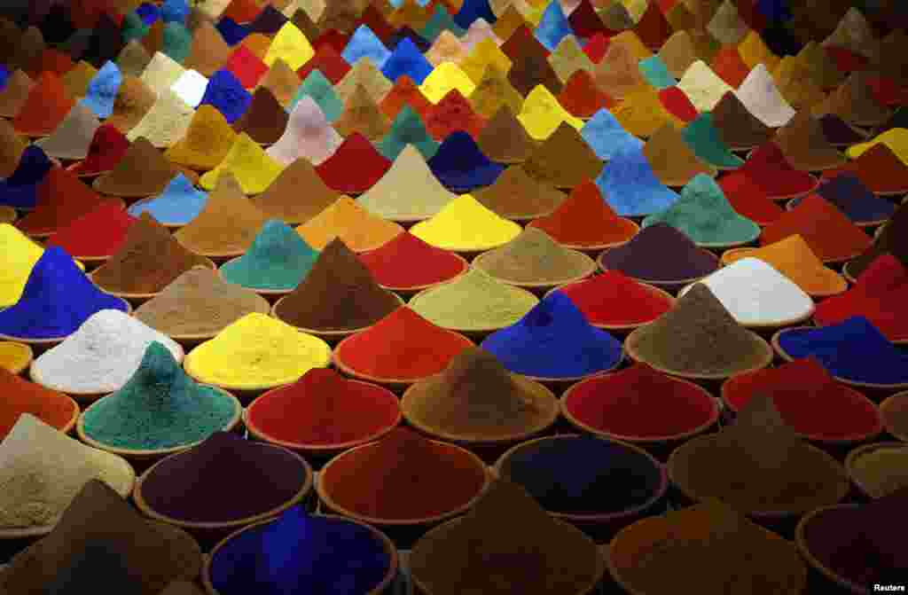 """Part of an installation called """"Campo de Color"""" by Bolivian artist Sonia Falcone is pictured during the 55th La Biennale of Venice, Italy, May 28, 2013."""