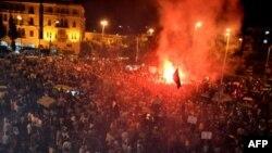 Người Libăng xuống đường biểu tình ở Tripoli bày tỏ tình đoàn kết với người dân Syria, ngày 4/8/2011