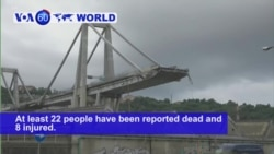 VOA60 World PM - At Least 35 Dead in Italy Bridge Collapse
