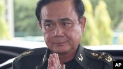 Jefe del ejército tailandés, Gen. Prayuth Chan-Ocha, quien anunció que las fuerzas armadas han tomado el control del país.