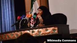 Marziyeh Hashemi, an American-born journalist working for an Iranian news outlet who was reportedly arrested in the U.S., is seen in this updated photo.