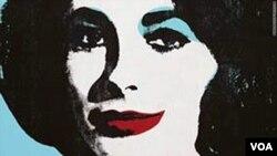 Un dibujo de unos labios, realizado por Andy Warhol e inscrito a Elizabeth Taylor, se vendió por $242.000 dólares.