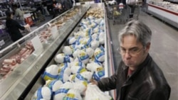 Shopping for a turkey at a store in Mountain View, California