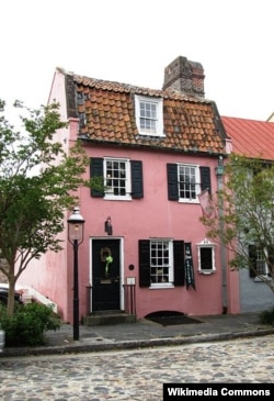 The Pink House, oldest stone building in Charleston