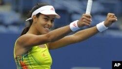 Ana Ivanović slavi pobedu nad Pironkovom