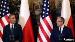 پرزیدنت اوباما در کنفرانس خبری با رئیس جمهوری لهستان