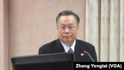 台湾国防部长严明上将 (美国之音张永泰拍摄)