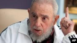 ອະດີດຜູ້ນຳຄິວບາ ທ່ານ Fidel Castro ໃນນະຄອນຫລວງ ຮາວານາ ປະເທດຄິວບາ.
