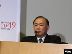 前台湾国防部军政副部长、退役海军上将陈永康(美国之音钟辰芳拍摄)