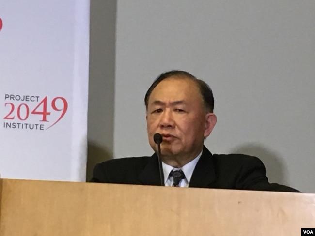 前台灣國防部軍政副部長、退役海軍上將陳永康(美國之音鐘辰芳拍攝)
