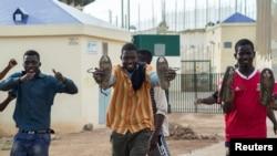 Migrants africains, enclave espagnole de Melilla, le 26 juin 2016. (REUTERS/Jesus Blasco de Avellaneda)