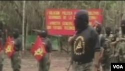 El gobierno dice que no puede dar la amnistía a un grupo guerrillero.