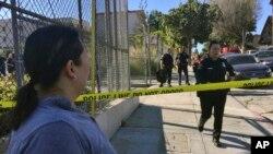Fusillade dans une école a Los Angeles, 1er février 2018.