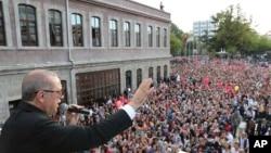 Recep Tayyip Erdogan s'adressant à ses partisans, Trabzon, Turquie, le 12 août 2018.