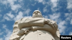 په واشنگتن ډي سي کې په کال ٢٠١١ کې د مارتین لوتر کینگ په یاد مجسمه جوړه شوه