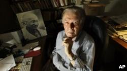 Professor Gene Sharp in his Boston office (2009 file photo)