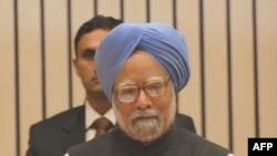 Thủ tướng Ấn Manmohan Singh đọc diễn văn tại hội nghị về phát triển bền vững, ở thủ đô New Delhi hôm 5 tháng 2, năm 2010