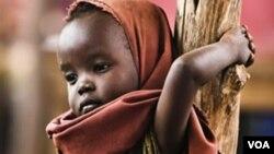 Mtoto mkimbizi wa kisomali akisubiri kufanyiwa uchunguzi wa afya kwenye kambi ya wakimbizi ya Daadab nchini Kenya.