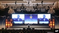 Indonesian President Susilo Bambang Yudhoyono delivers his speech during the opening ceremony of the 18th ASEAN Summit in Jakarta, May 7, 2011