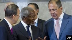 Кофи Аннан и Сергей Лавров