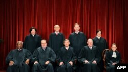 The Justices of the US Supreme Court sit for their official photograph, October 8, 2010.