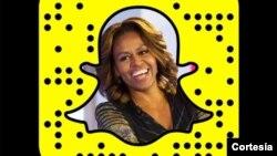 Foto profil Michelle Obama di akun Snapchat.