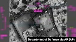 د امریکې د دفاع وزارت پېنټگان د هغه ځای تصویر جاري کړی چرته چې البغدادي وژل شوی دی