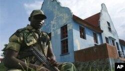 23일 콩고민주공화국 동부의 반군 훈련장. (자료사진)