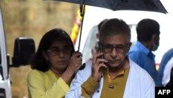 نصیرالدین شاہ اپنی بیٹی کے ہمراہ (فائل)