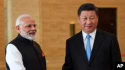 印度總理莫迪四月在武漢與中國國家主席習近平會面。