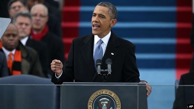 Presiden Obama memberikan pidato inaugurasi selama 19 menit dan mengajak warga AS mengesampingkan perbedaan politik (21/1).