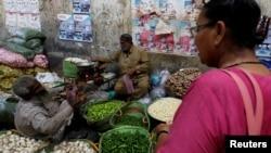 کراچی کا سبزی کا ایک اسٹال،