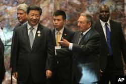 劳尔·卡斯特罗与中国国家主席习近平