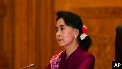 آنگ سان سوچی (فائل فوٹو)