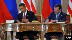 Barak Obama va Dmitriy Medvedev hujjatni shu yilning aprel oyida Pragada imzolagan edi
