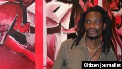 Artist Owen Maseko was arrested after he displayed his Gukurahundi pieces at the Bulawayo Art Gallery. (File Photo/Citizen Journalist)
