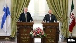 نشست مطبوعاتی مشترک وزیران امور خارجه ایران و فنلاند در تهران - ۹ شهریور ۱۳۹۳
