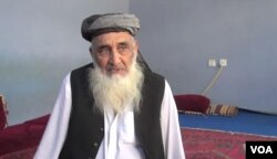 Malik Niyaz, a Shinwari tribal elder, Nov. 2, 2015. (Photo: A. Tanzeem / VOA )