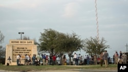 Urwinjiriro rw'ikibanza ca gisirikare ca Fort Hood, mu ntara ya Texas