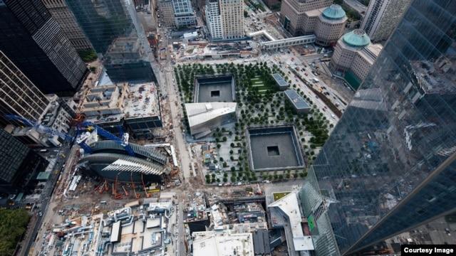 Так сегодня выглядит Всемирный торговый центр, вид сверху