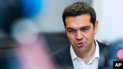 Le Premier ministre grec, Alexis Tsipras (AP Photo/Geert Vanden Wijngaert)