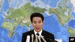 日本前外相民主黨政調會長前原誠司(資料圖片)在南韓首爾發表演說擔憂中國國防開支增加和海洋戰略