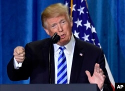도널드 트럼프 미국 대통령이 25일 미국 보건후생부에서 처방 약값 인하 방안을 발표했다.