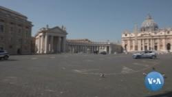 VOA英语视频: 病毒阴影笼罩梵蒂冈 教宗广场独白遥勉信徒