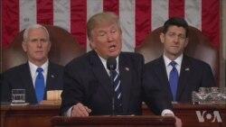 川普国会演讲呼吁复兴美国精神
